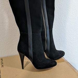 Michael Kors Delaney black boot tall size 5m